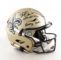 "Drew Brees Signed Saints Full-Size Authentic On-Field SpeedFlex Helmet Inscribed ""NFL All Time Passing Leader"" (Beckett COA) at PristineAuction.com"