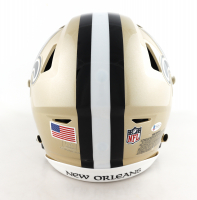 """Drew Brees Signed Saints Full-Size Authentic On-Field SpeedFlex Helmet Inscribed """"NFL All Time Passing Leader"""" (Beckett COA) at PristineAuction.com"""