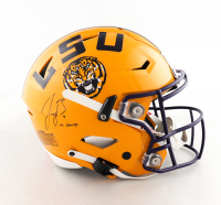 "Joe Burrow Signed LSU Tigers Full-Size Authentic On-Field SpeedFlex Helmet Inscribed ""19 Champs"" (Fanatics Hologram) at PristineAuction.com"