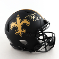 Drew Brees Signed Saints Full-Size Authentic On-Field Eclipse Alternate Speed Helmet (Beckett COA) at PristineAuction.com