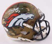 Willis McGahee Signed Broncos Camo Alternate Speed Mini Helmet (JSA COA) at PristineAuction.com