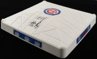 Kris Bryant & Anthony Rizzo Signed 2016 World Series Cubs Logo Baseball Plate (Fanatics Hologram) at PristineAuction.com