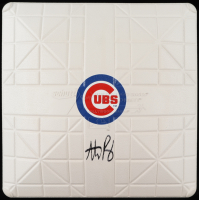 Anthony Rizzo Signed 2016 World Series Cubs Logo Baseball Base (Fanatics Hologram) at PristineAuction.com