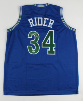Isaiah Rider Signed Jersey (PSA COA) (See Description) at PristineAuction.com