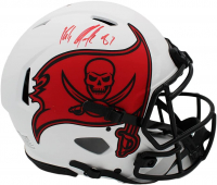 Rob Gronkoswki Signed Buccaneers Full-Size Authentic On-Field Lunar Eclipse Alternate Speed Helmet (Radtke Hologram) at PristineAuction.com