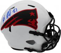 Rob Gronkoswki Signed Patriots Full-Size Lunar Eclipse Alternate Speed Helmet (Radtke Hologram) at PristineAuction.com