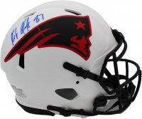 Rob Gronkoswki Signed Patriots Full-Size Authentic On-Field Lunar Eclipse Alternate Speed Helmet (Radtke Hologram) at PristineAuction.com