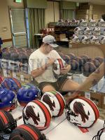 Josh Allen Signed Bills Full-Size Authentic On-Field Lunar Eclipse Alternate Speed Helmet (Radtke Hologram) at PristineAuction.com