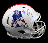 Rob Gronkoswki Signed Patriots Full-Size Authentic On-Field Throwback Speed Helmet (Radtke Hologram) at PristineAuction.com
