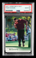 Tiger Woods 2001 Upper Deck #1 RC (PSA 10) at PristineAuction.com