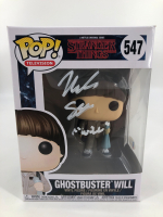 "Noah Schnapp Signed ""Stranger Things"" Ghostbuster Will #547 Funko Pop! Vinyl Figure Inscribed ""Will"" (Beckett COA) at PristineAuction.com"
