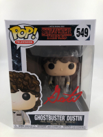 "Gaten Matarazzo Signed ""Stranger Things"" #549 Ghostbuster Dustin Funko Pop! Vinyl Figure (JSA COA) at PristineAuction.com"
