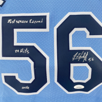 Randy Arozarena Signed Rays Jersey with 2020 MLB World Series Logo Patch with (3) Inscriptions (JSA COA) at PristineAuction.com