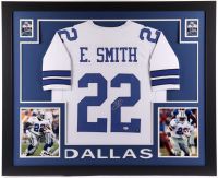 Emmitt Smith Signed 35x43 Custom Framed Jersey Display (Beckett COA & Prova Hologram) at PristineAuction.com