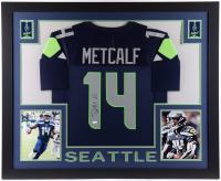 DK Metcalf Signed 35x43 Custom Framed Jersey (JSA COA) at PristineAuction.com