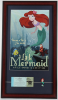 "Disney World ""The Little Mermaid: Ariel's Undersea Adventure"" 15x26 Custom Framed Print Display with Disney World Ticket Booklet & Ariel Lapel Pin at PristineAuction.com"