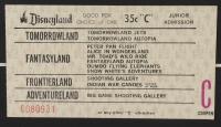 "Disneyland Fantasyland's ""Mr. Toad's Wild Ride"" 15x26 Custom Framed Print Display with Vintage Ticket & Lapel Pin at PristineAuction.com"