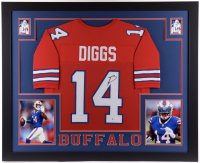 Stefon Diggs Signed 35x43 Custom Framed Jersey (Beckett Hologram) at PristineAuction.com