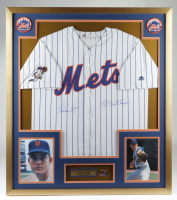 """Nolan Ryan Signed Mets 32x36 Custom Framed Jersey Display Inscribed """"1969 World Series"""" with 1969 World Series Pin (PSA COA) at PristineAuction.com"""