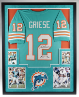 """Bob Griese Signed 35x43 Custom Framed Jersey Inscribed """"HOF 90"""" (JSA COA) at PristineAuction.com"""