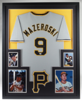 Bill Mazeroski Signed 35x43 Custom Framed Jersey (JSA COA) at PristineAuction.com