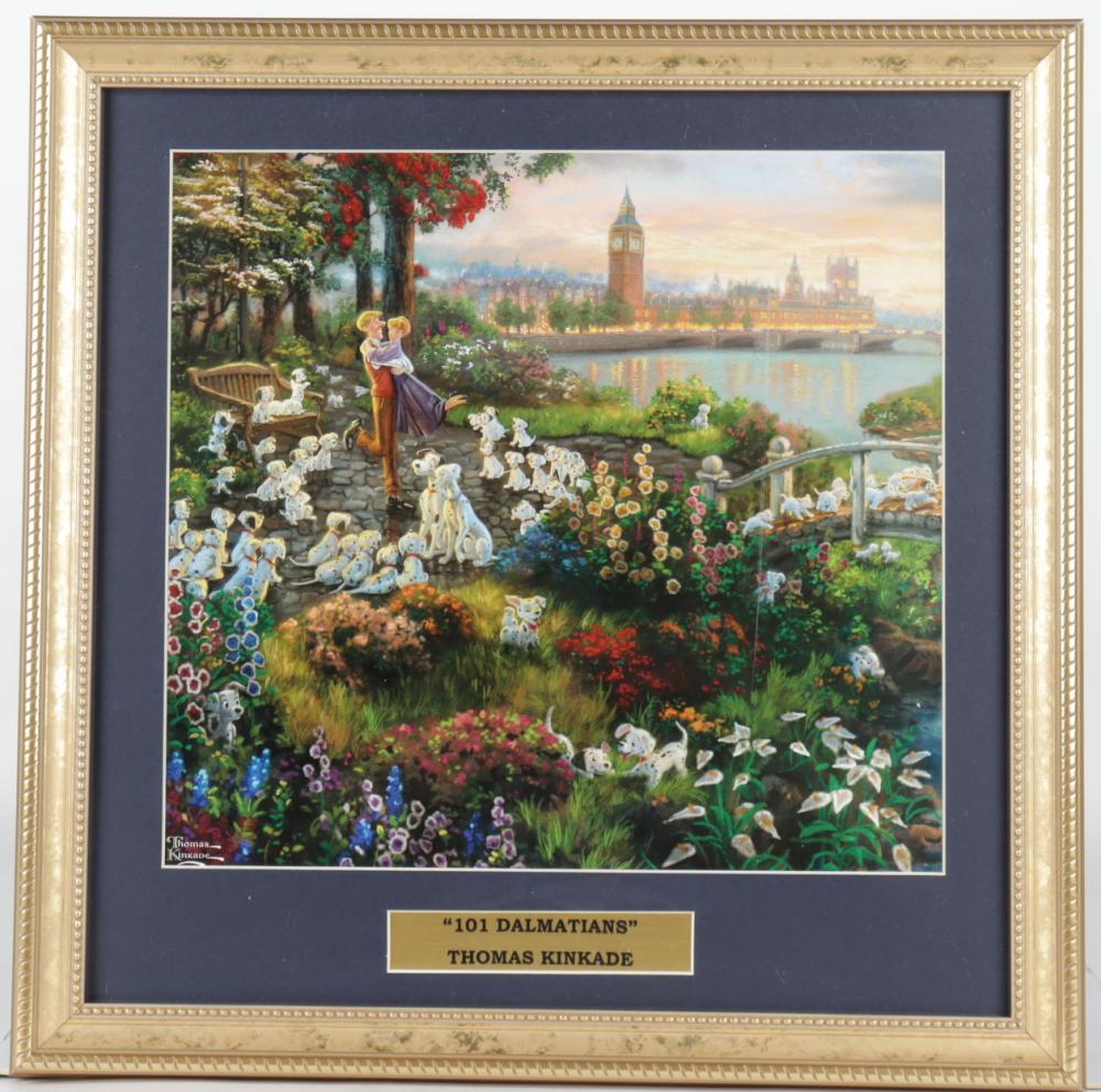"Thomas Kinkade Walt Disney's ""101 Dalmatians"" 16x16 Custom Framed Print Display at PristineAuction.com"