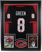 A. J. Green Signed 35x43 Custom Framed Jersey Display (Radtke COA) at PristineAuction.com