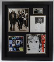 U2 27x31 Custom Framed Display Signed by (4) with Bono, The Edge, Larry Mullen & Adam Clayton (Beckett LOA) at PristineAuction.com