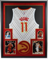 Trae Young Signed Hawks 35x43 Custom Framed Jersey Display (JSA COA) at PristineAuction.com