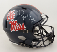 DK Metcalf Signed Ole Miss Rebels Full-Size Speed Helmet (JSA COA) at PristineAuction.com