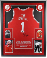 Bob Knight Signed 35x43 Custom Framed Jersey Display (Steiner Hologram) at PristineAuction.com
