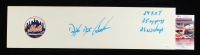 """Dwight """"Doc"""" Gooden Signed Mets Logo Pitching Rubber Inscribed """"84 R.O.Y."""", """"85 Cy Young"""" & """"86 W.S. Champs"""" (JSA COA) at PristineAuction.com"""