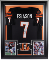 Boomer Esiason Signed 35x43 Custom Framed Jersey Display (JSA COA) at PristineAuction.com