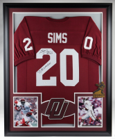 """Billy Sims Signed 35x43 Custom Framed Jersey Inscribed """"78 Heisman"""" (JSA COA) (See Description) at PristineAuction.com"""
