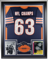 1963 Bears LE 35x43 Custom Framed Jersey Display Signed by (23) with Mike Ditka, Rosey Taylor, Johnny Morris, Ronnie Bull, Rudy Bukich (Mounted Memories COA) at PristineAuction.com