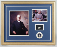 Harry S. Truman 19.5x23.5 Custom Framed Display with (1) Hand-Written Word From Letter (JSA LOA Copy) (See Description) at PristineAuction.com