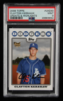 Clayton Kershaw 2008 Topps Update #UH240 RC (PSA 9) at PristineAuction.com