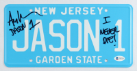 "Ari Lehman Signed ""Friday the 13th"" New Jersey License Plate Inscribed ""Jason 1"" & ""I Never Die!"" (Beckett COA) at PristineAuction.com"
