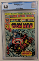 "Vintage 1973 ""Captain America and Iron Man"" Issue #1 Marvel Comic Book (CGC 6.5) at PristineAuction.com"