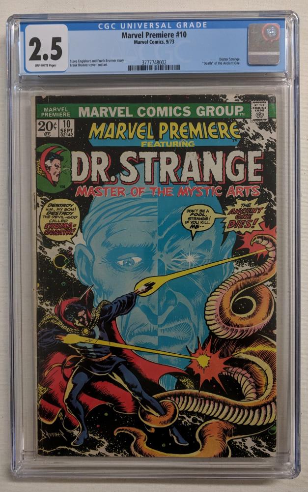 "Vintage 1973 ""Dr. Strange"" Issue #10 Marvel Comic Book (CGC 2.5) at PristineAuction.com"