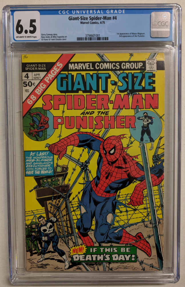 """Vintage 1975 """"Giant-Size Spider-Man"""" Issue #4 Marvel Comic Book (CGC 6.5) at PristineAuction.com"""