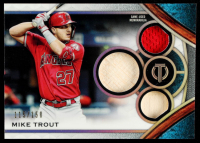 Mike Trout 2021 Topps Tribute Triple Relic #TTRMT #115/150 at PristineAuction.com