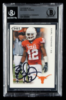 Earl Thomas Signed 2010 SAGE HIT #60 (BGS Encapsulated) at PristineAuction.com