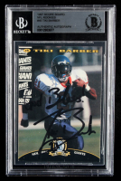 Tiki Barber Signed 1997 Score Board NFL Rookies #45 (BGS Encapsulated) at PristineAuction.com