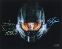 "Steve Downes & Jen Taylor Signed ""Halo"" 11x14 Photo Inscribed ""Master Chief 117"" & ""Cortana"" (Radtke COA) (See Description) at PristineAuction.com"