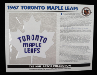 "1967 Maple Leafs ""The NHL Patch Collections"" Statistics Commemorative 10x14 Print With Patch at PristineAuction.com"