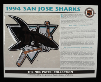 "1994 Sharks ""The NHL Patch Collections"" Statistics Commemorative 10x14 Print With Patch at PristineAuction.com"