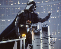 "Dave Prowse & James Earl Jones Signed ""Star Wars: The Empire Strikes Back"" Inscribed ""Is Darth Vader"" 8x10 Photo (AutographCOA Hologram) at PristineAuction.com"