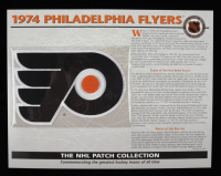 "1974 Flyers ""The NHL Patch Collections"" Statistics Commemorative 10x14 Print With Patch at PristineAuction.com"