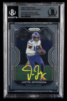 Justin Jefferson Signed 2020 Panini Prizm #398A RC (BGS Encapsulated) at PristineAuction.com